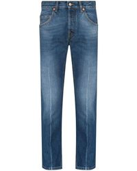 Gucci Slim-leg Cropped Jeans - Blue