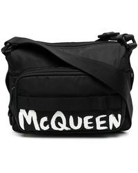 Alexander McQueen Logo Shoulder Bag - Black