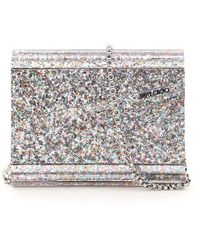 Jimmy Choo Multicolour Glitter Acrylic Candy Clutch - Metallic