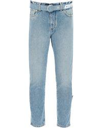 Off-White c/o Virgil Abloh Slim Jeans With Belt - Blue
