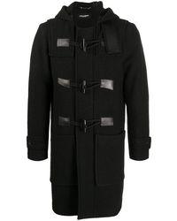 Dolce & Gabbana Dolce&gabbana Wool Duffle Coat - Black