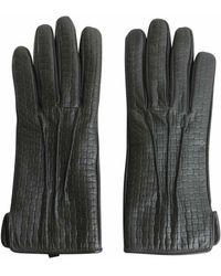 Tru Trussardi Gloves In Printed Nappa - Black