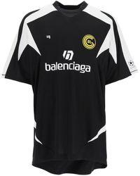 Balenciaga Soccer Print T-shirt - Black