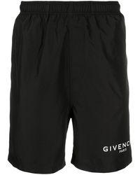 Givenchy Logo Print Swimming Trunks - Black