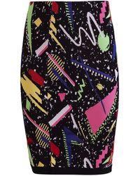 Balmain - Abstract-print Skirt - Lyst