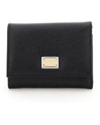 Dolce & Gabbana French Flap Wallet - Black