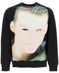 032c Crewneck Sweatshirt With Debut Print - Multicolour