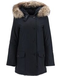 Woolrich Arctic Parka With Murmasky Fur - Blue