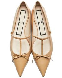 N°21 Bow-detail Pointed Ballerina Shoes - Multicolour