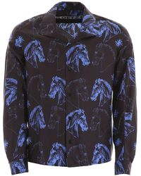 Goetze Printed Dylan Shirt - Blue