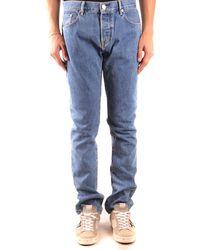 Burberry Straight Jeans Denim - Blue