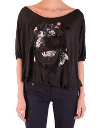 John Galliano T-shirt In - Black