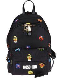 Moschino Black Sesame Street Backpack