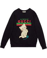 Gucci Kitten Crew-neck Sweatshirt - Multicolor