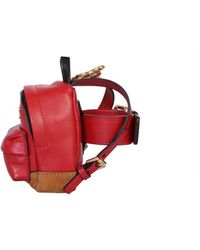 Moschino Micro Backpack Belt Bag - Red
