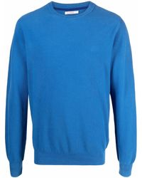 Sun 68 Knitted Cotton Sweater - Blue