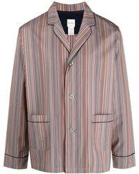 Paul Smith Artist Stripe Cotton Pajamas - Multicolor