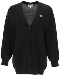 KENZO Cotton Cardigan Tiger Crest Patch S Cotton - Black