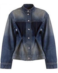 Givenchy Distressed-effect Tailored Denim Jacket - Blue