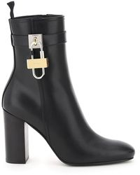 Givenchy Lock Leather Ankle Boots - Black