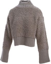 The Attico Jumpers Beige - Grey