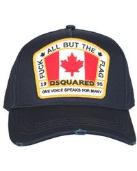 DSquared² Canadian Patch Baseball Cap Navy - Blue