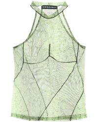 Y. Project Y Project Python Mesh Top - Green