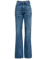 Saint Laurent 60's Flared Denim Jeans - Blue