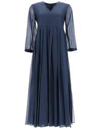Max Mara Corolla Voile Dress - Blue