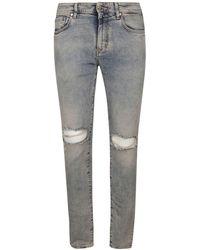 Represent Light Blue Cotton Jeans