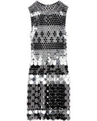 Paco Rabanne Sequin Embellished Mini Dress - Metallic