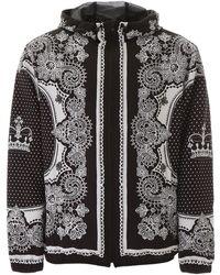 Dolce & Gabbana Bandana And Crown Jacket - Black