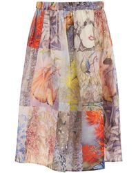 Zimmermann Botanica Midi Skirt - Multicolor