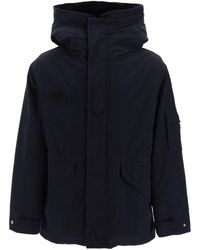 Mr & Mrs Italy Midi Curtain Parka With Removable Fur Interior M Cotton,fur - Blue