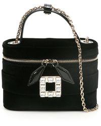 Roger Vivier Vanity Micro Bag With Crystal Buckle - Black