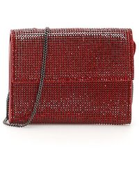"""Marco De Vincenzo """"marco De Vincenzo Crystal Wallet With Chain"""" - Red"""