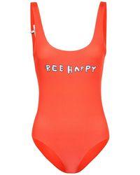 Ganni Profilic Bee Happy Swimsuit - Red