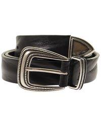 Tagliatore Bull Hide Belt - Black