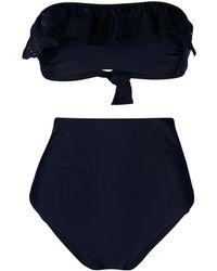 P.A.R.O.S.H. Niky Lace-detail Bikini - Blue
