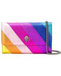 Kurt Geiger K Stripe Chain Wallet Leather Mult/other - Multicolour