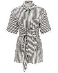 Sportmax Poplin Shirt With Knot 38 Cotton - Black