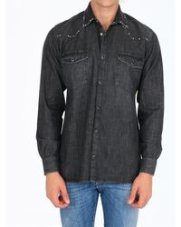 Golden Goose Deluxe Brand Western Shirt With Studs - Black