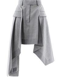 Sacai Other Materials Skirt - Grey