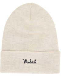 Woolrich Embroidered Beanie - Natural