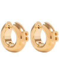 Balenciaga B Hoop Earrings Onesize - Metallic