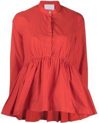 Erika Cavallini Semi Couture Amira Cotton Shirt - Orange