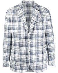 Gabriele Pasini Checked Single-breasted Blazer - White