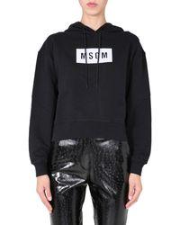 MSGM - Regular Fit Sweatshirt - Lyst