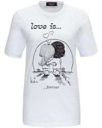"""DSquared² """"love Is ..."""" T-shirt - White"""