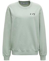 Off-White c/o Virgil Abloh Green Cotton Sweatshirt With Logo Print